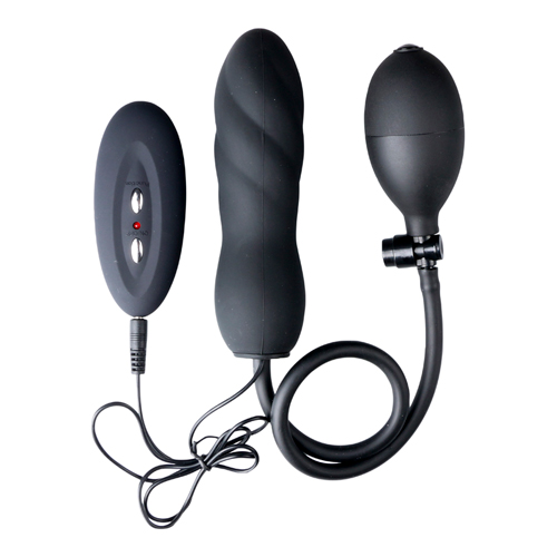 Opblaasbare vibrerende siliconen Twist - zwart