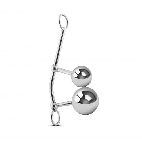 Metalen Bondage String Met Anaal & Vagina Ballen